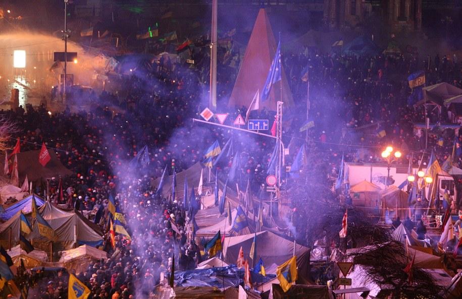 Szturm na Majdan /IGOR KOVALENKO /PAP/EPA