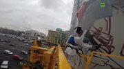 """Szturmowcy nad Moskwą. Gigantyczny mural z żołnierzami """"Gwiezdnych wojen"""""""