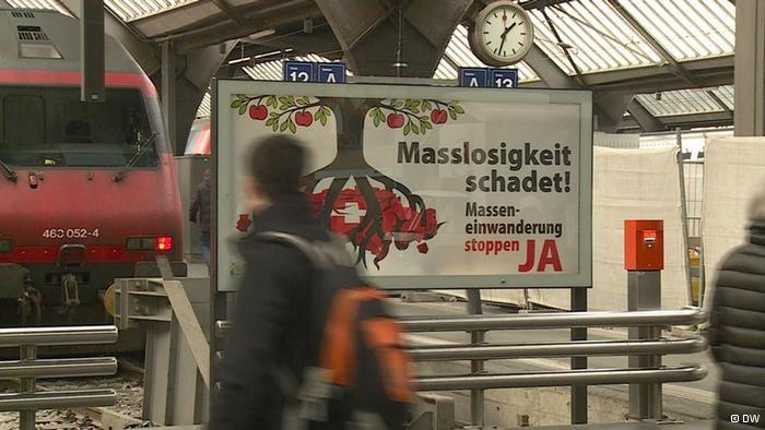 Szwajcarscy populiści chcą zastopować masowy napływ imigrantów, głównie Niemców /Deutsche Welle