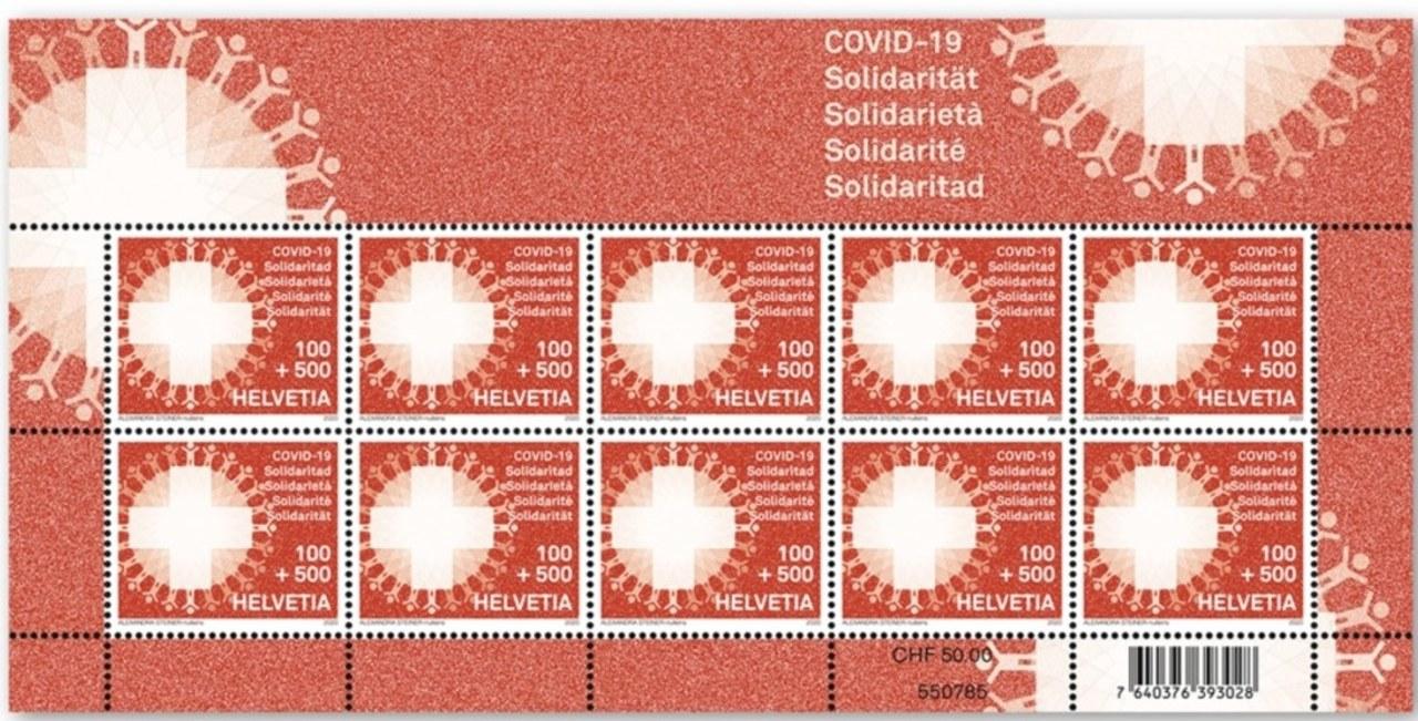 """Szwajcarska poczta wspiera walkę z koronawirusem. """"Znaczek symbolizuje solidarrność"""""""