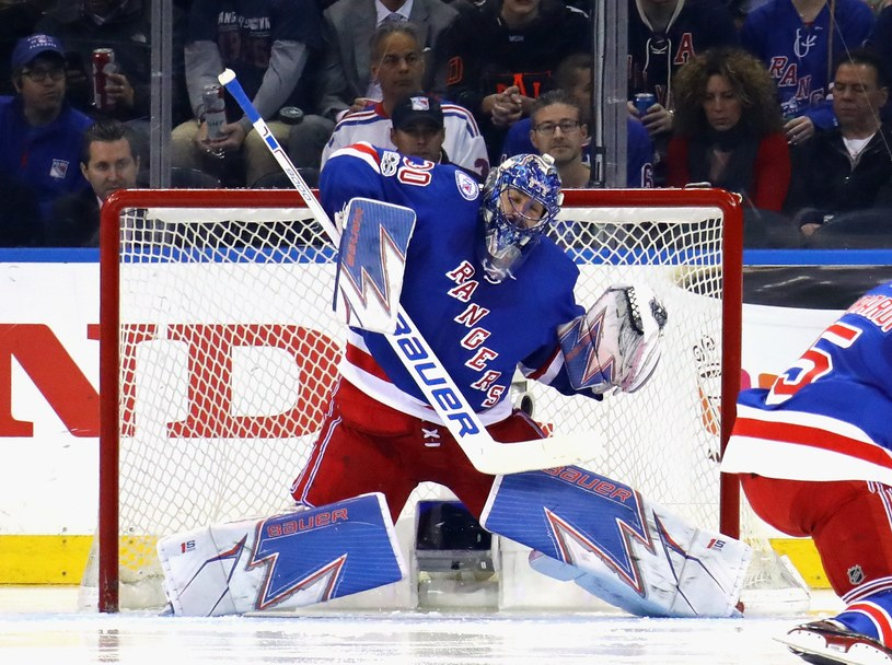 Szwed Henrik Lundqvist z New York Rangers /AFP