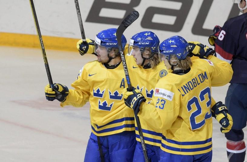 Szwedzcy hokeiści /AFP