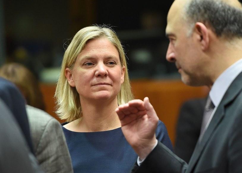 Szwedzka minister finansów Magdalena Andersson /EMMANUEL DUNAND /AFP