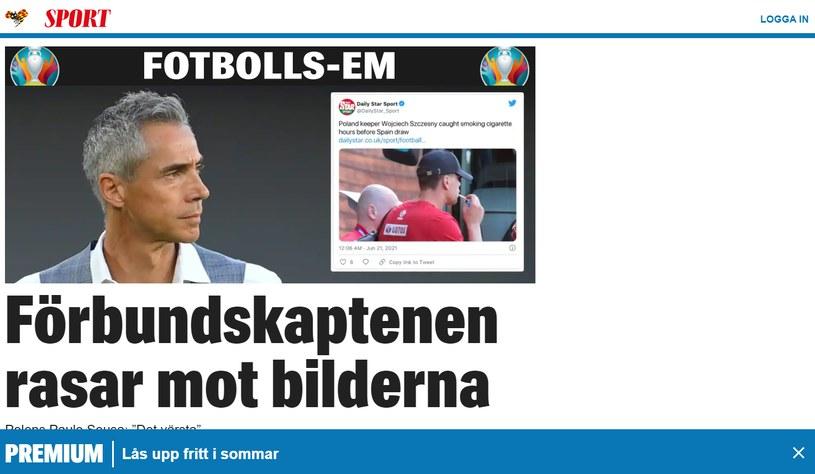 Szwedzkie media podgrzewają atmosferę przed meczem Szwecja-Polska    /expressen.se /