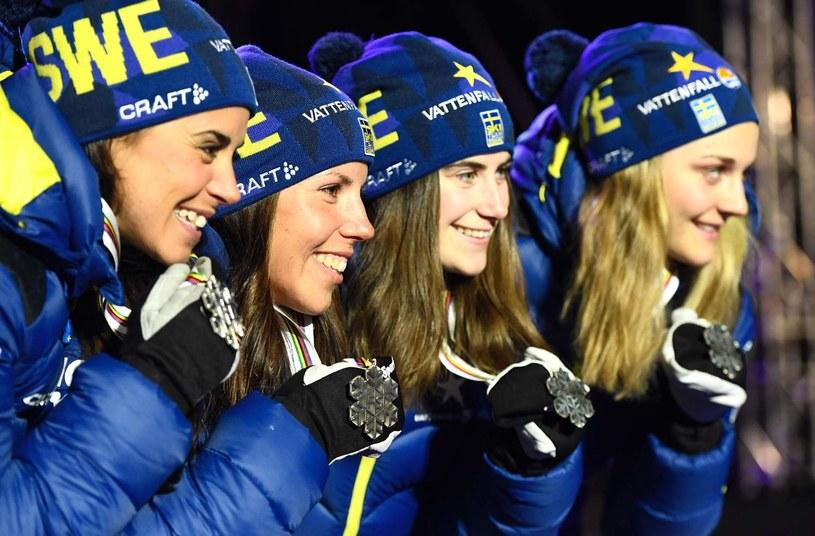 Szwedzkie narciarki, od lewej: Anna Haag, Charlotte Kalla, Ebba Andersson, Stina Nilsson /AFP