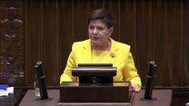 Szydło: Wniosek PO obraża inteligencję Polaków, zabiera czas Sejmowi