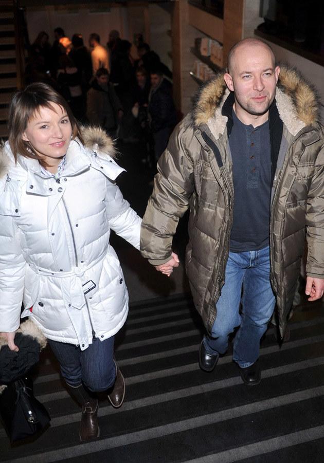 Szymon Bobrowski z żoną Olą /Lech Gawuc /Reporter