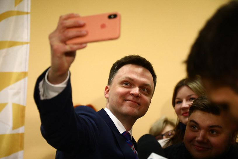 Szymon Hołownia 17 lutego pojawił się w Krakowie /Beata Zawrzel/REPORTER /Reporter