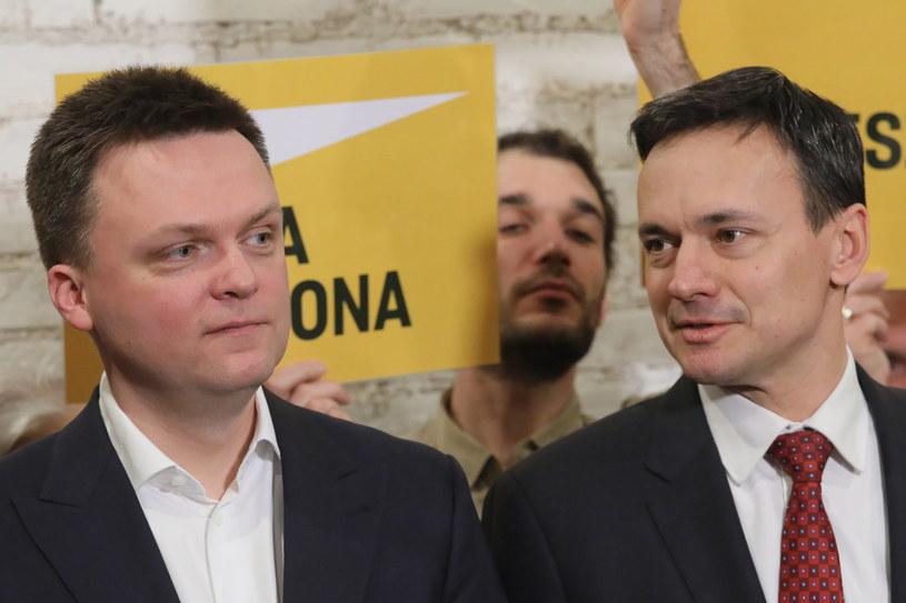Szymon Hołownia i Jacek Cichocki /Paweł Supernak /PAP