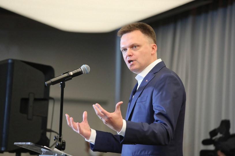 Szymon Hołownia na I Forum Samorządowym w Pabianicach /Roman Zawistowski /PAP