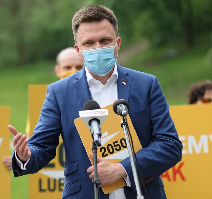 Szymon Hołownia nie wyklucza, że w najbliższym czasie będzie rozmawiał z Różą Thun /Lech Muszyński /PAP