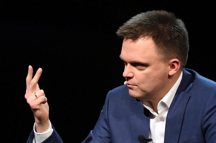 Szymon Hołownia ogłosił start w wyborach 8 grudnia / Adam Warżawa    /PAP