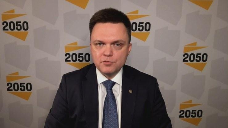 """Szymon Hołownia w """"Gościu Wydarzeń"""" /Polsat News"""