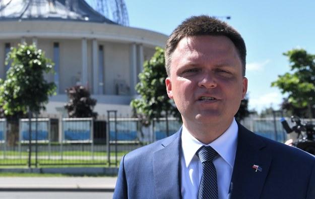 Szymon Hołownia w Toruniu /\Tytus Żmijewski /PAP