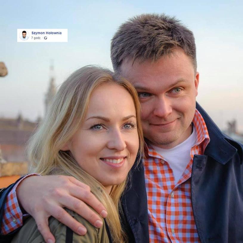 Szymon Hołownia z żoną /facebook.com