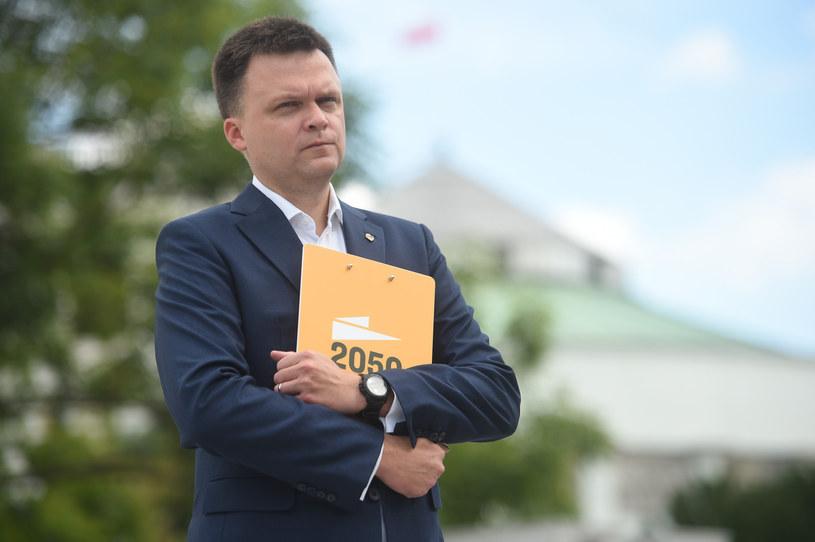 Szymon Hołownia zapowiada kolejne transfery /Zbyszek Kaczmarek /Reporter