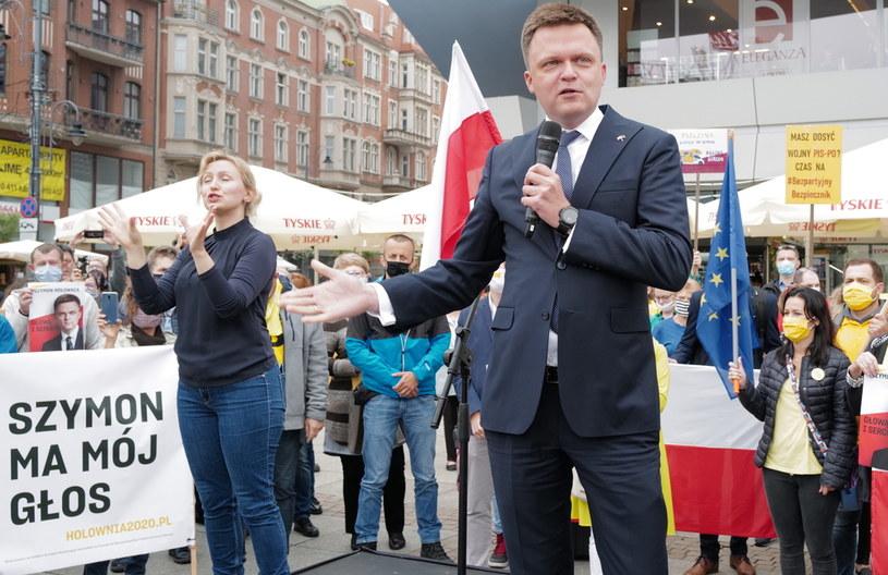 Szymon Hołownia / Andrzej Grygiel    /PAP