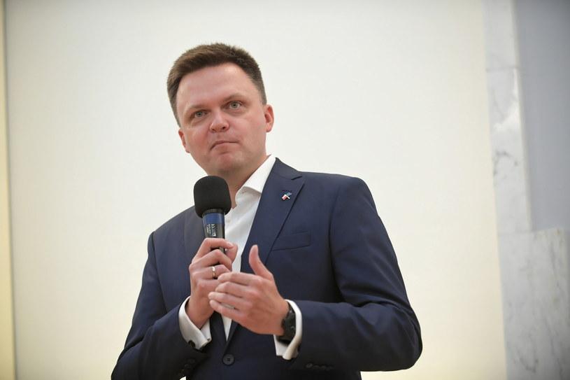 Szymon Hołownia / Marcin Obara  /PAP