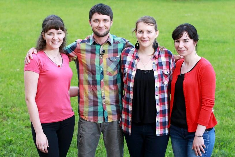 Szymon i kandydatki na jego żonę: Kasia, Marysia i Urszula /TVP