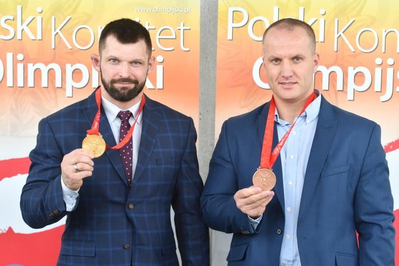 Szymon Kołecki (z lewej) i Marcin Dołęga /Bartłomiej Zborowski /PAP