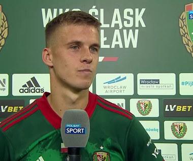 Szymon Lewkot: Strzelenie pierwszego gola na stadionie Śląska Wrocław było czymś niezwykłym (POLSAT SPORT) Wideo
