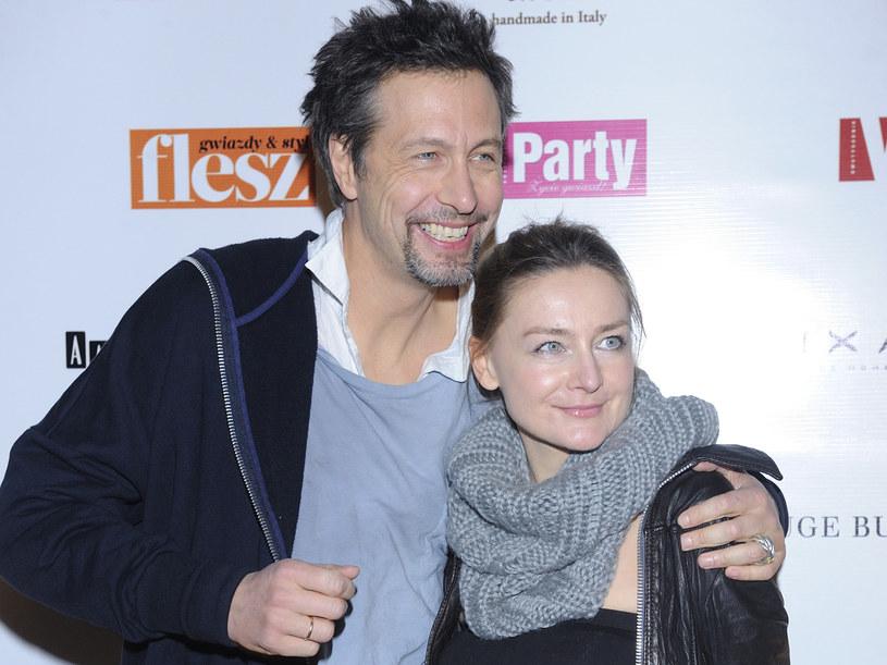Szymon Majewski z żoną Magdą /Jarosław Antoniak /MWMedia