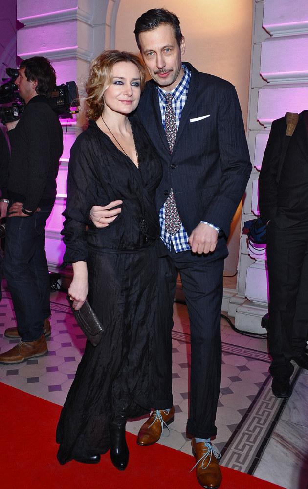 Szymon Majewski z żoną Magdą /Andras Szilagyi /MWMedia