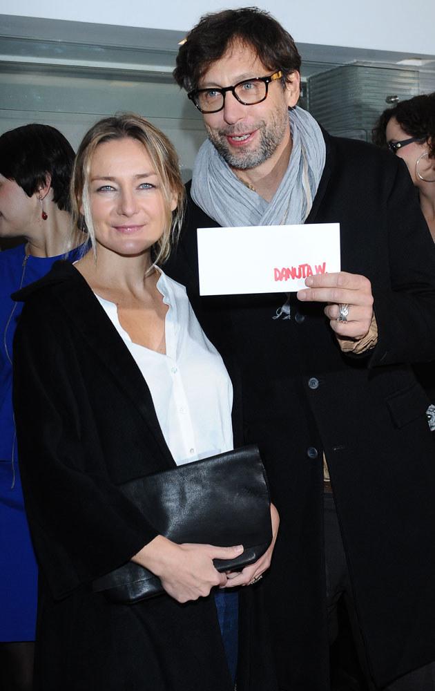 Szymon Majewski z żoną Magdaleną /Andras Szilagyi /MWMedia