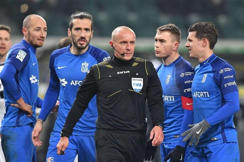 Szymon Marciniak podczas meczu Legia - Lech /Mateusz Jagielski /East News