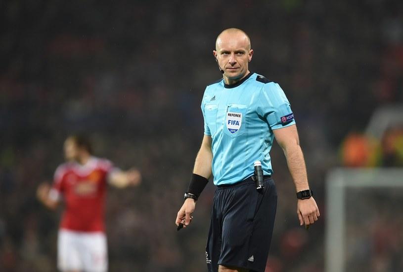 Szymon Marciniak w Lidze Mistrzów prowadził m.in. mecz CSKA Moskwa - Manchester United /AFP