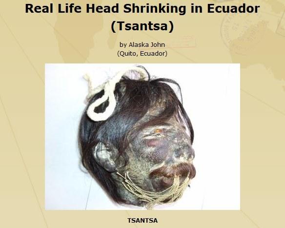 Ta wystawiona na sprzedaż główka Tsantsa ma ponoć aż 300 lat /INTERIA.PL/materiały prasowe