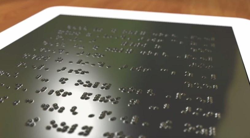 Table dla niewidomych Fot. Kadr z filmu przygotowanego przez Uniwersytet Michigan /materiał zewnętrzny