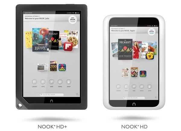 Tablety Nook HD i Nook HD+ /materiały prasowe