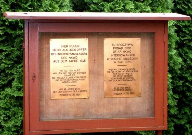 Tablica informacyjna ofiar NKWD. Fot. Autor. /Odkrywca /Odkrywca