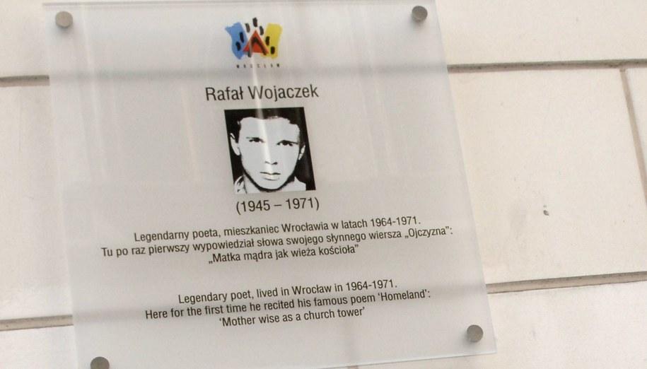 Tablica pamiątkowa we Wrocławiu /Adam Hawałej /PAP