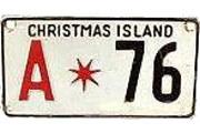 Tablica rejestracyjna z Christmas Island z 1972 roku /INTERIA.PL