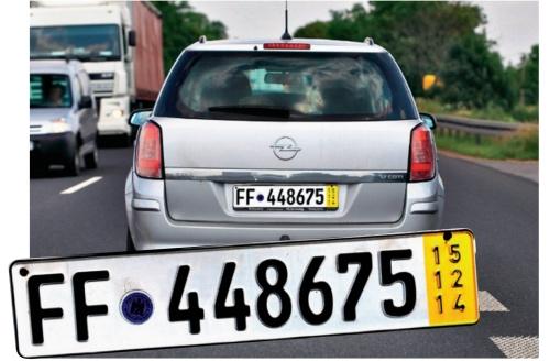 tablice tymczasowe /Motor