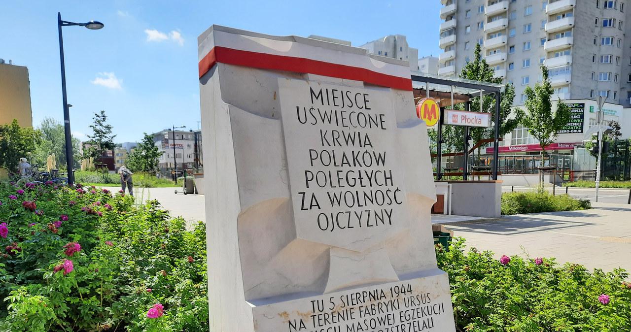 Tablice upamiętniające śmierć Polaków w czasie Powstania Warszawskiego