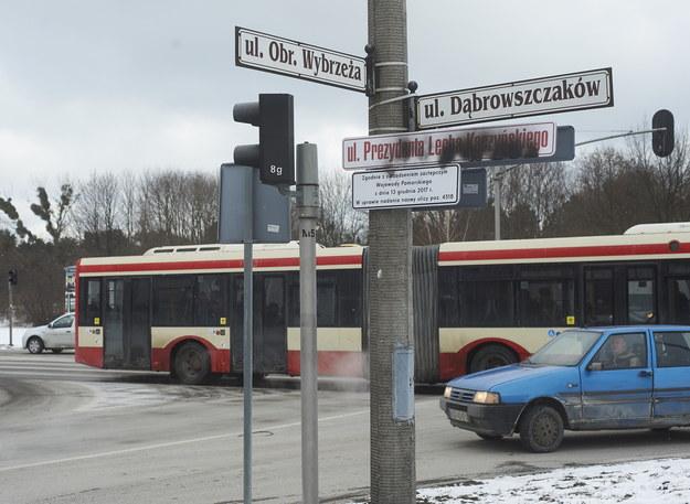 Tablice zamalowane w Gdańsku /Dominik Kulaszewicz /PAP