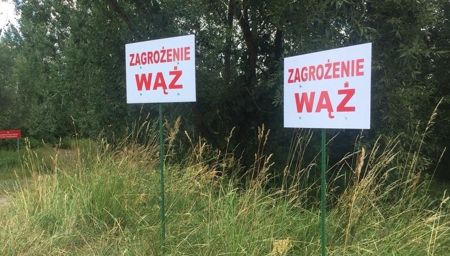 Tabliczki, które stoją w okolicach, gdzie prowadzona jest akcja poszukiwawcza /Karol Pawłowicki /RMF FM