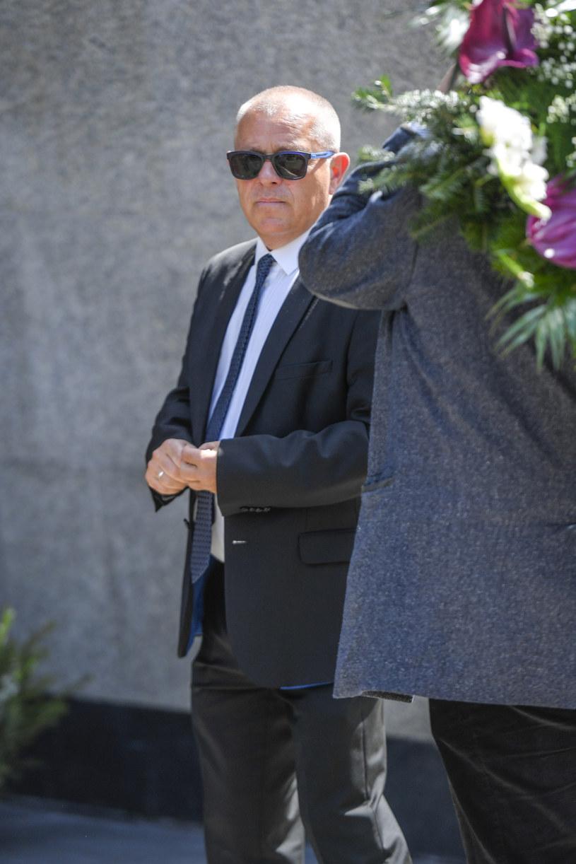 Tadeusz Chudecki na pogrzebie Andrzeja Strzeleckiego /Piętka Mieszko /AKPA