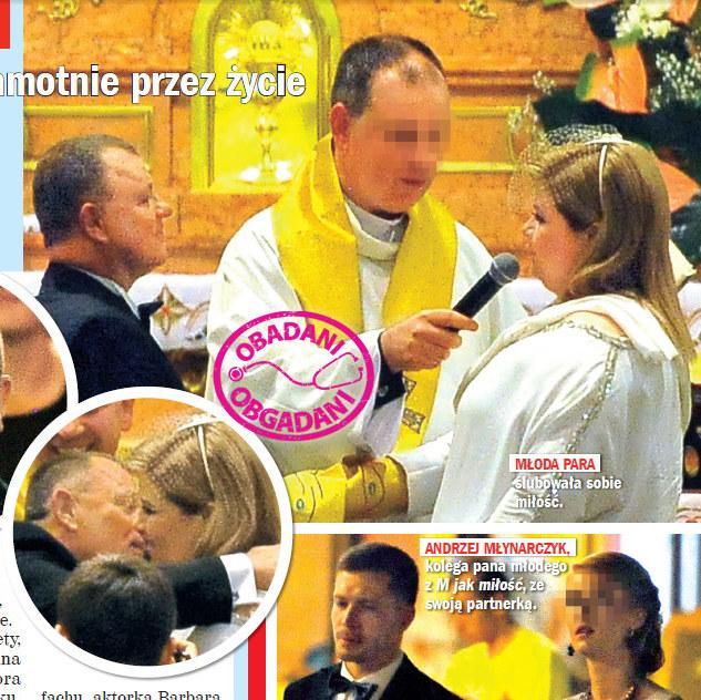 Tadeusz Chudecki wziął ślub ze swoją partnerką Justyną /Rewia