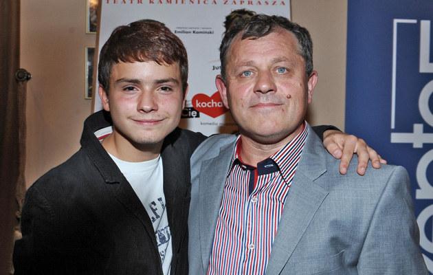Tadeusz Chudecki z synem, fot.Andras Szilagyi  /MWMedia