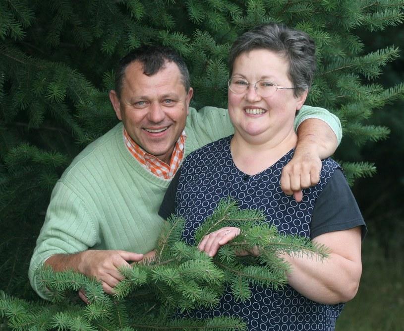 Tadeusz Chudecki z żoną Luizą, sierpień 2007 roku /DOMINIK GRYZEWSKI/REPORTER /East News