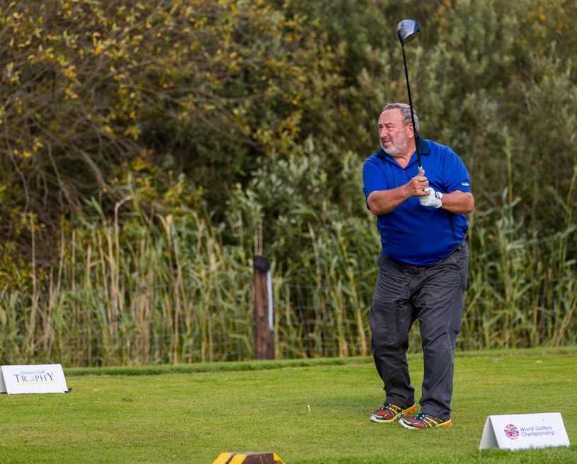 Tadeusz Drozda na polu golfowym /- /Reporter