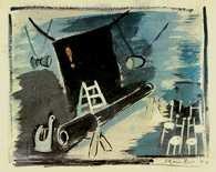 """Tadeusz Kantor, projekt inscenizacji do """"Powrotu Odysa"""" Stanisława Wyspiańskiego, 1944 /Encyklopedia Internautica"""