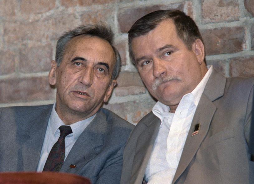 Tadeusz Mazowiecki i Lech Wałęsa: Zdjęcie z 1989 roku /Wojtek Druszcz /AFP