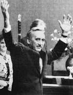 Tadeusz Mazowiecki, jako pierwszy niekomunistyczny premier, 12 IX 1989 r. /Encyklopedia Internautica