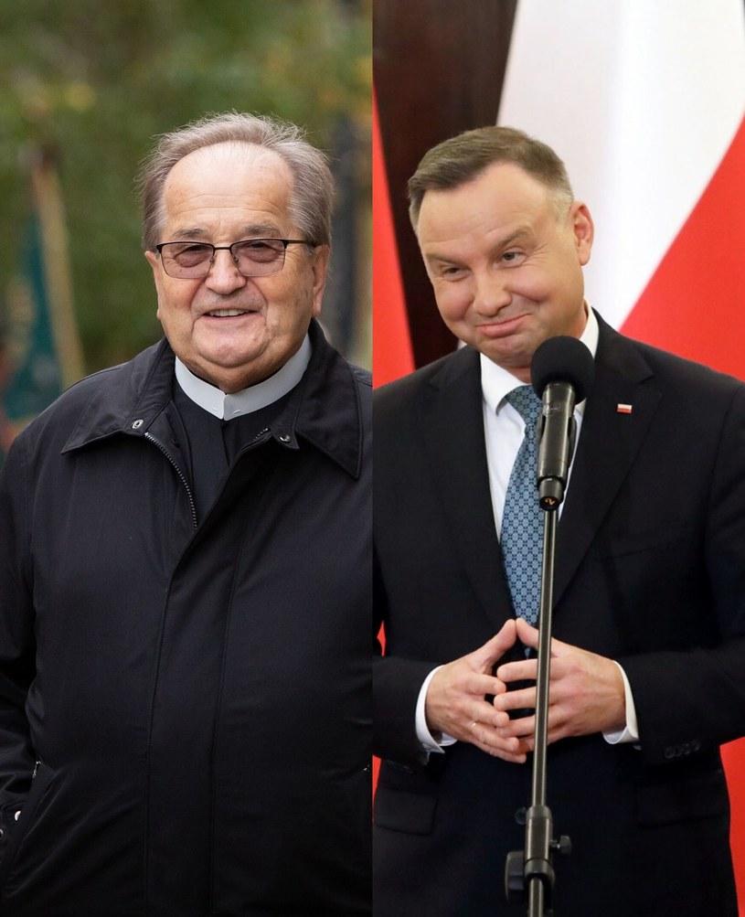Tadeusz Rydzyk i Andrzej Duda /Mateusz Włodarczyk /Agencja FORUM