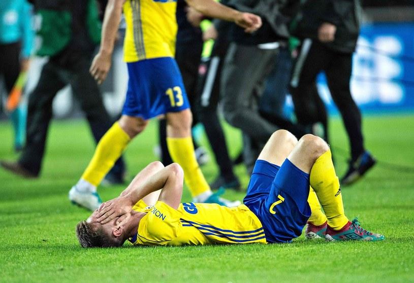 Tadeusz Socha po meczu Arki z FC Midtjylland /HENNING BAGGER /AFP
